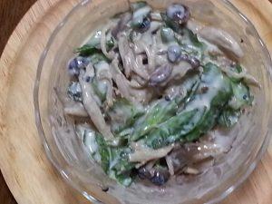 四角豆ヨーグルト+味噌ドレ