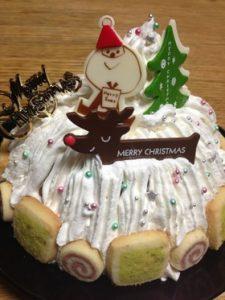 ドーム型クリスマスケーキ