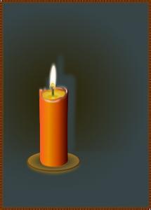 クリスマスのローソクの灯り