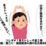 ソレダメ!骨ストレッチ第2弾!腰痛・肩こり・猫背対策|顔の引き締めの効果ストレッチ